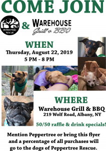 Dogs on the Deck Fundraiser! @ Warehouse Grill & BBQ