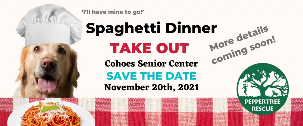 Peppertree Fundraiser: Spaghetti Dinner @ Cohoes Senior Center